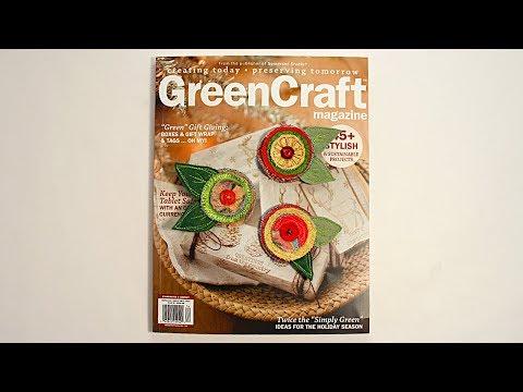 Greencraft Magazine Winter 2018 Flower Fun with Barb Owen - HowToGetCreative.com