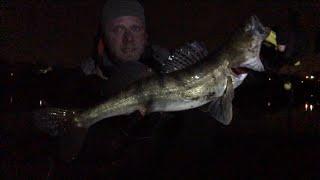 МОСКВА РЕКА Рыбалка в ЧУЛКОВО Зимний спиннинг ночная ловля СУДАКА на ВОБЛЕРЫ Джиг зимой