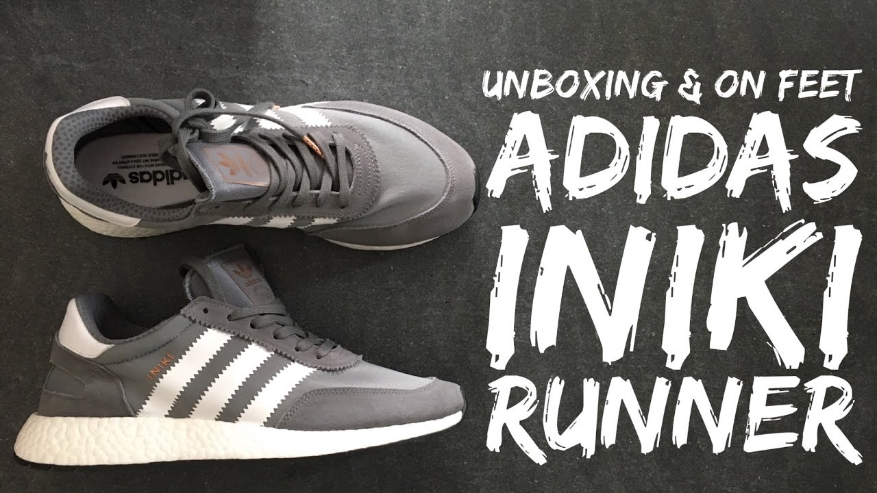 timeless design 32ef3 c83c1 Adidas INIKI RUNNER BOOST  grey white    UNBOXING   ON FEET   fashion shoes    brand new 2017   HD