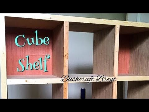 Cube Shelf DIY | Woodworking with Bushcraft Brent