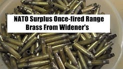 NATO  Surplus Once-fired Range Brass from Widener's