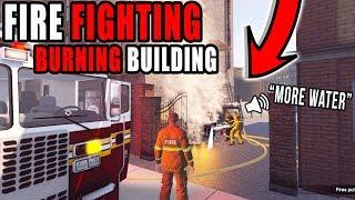 MASSIVE BUILDING FIRE! | MULTIPLAYER | FIRE RESCUE WORK!