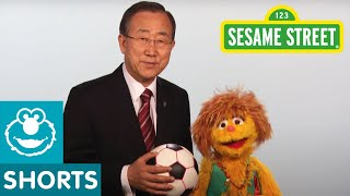 Sesame Street: Kami and UN Secretary General Ban Ki-Moon - Every Woman Every Child PSA