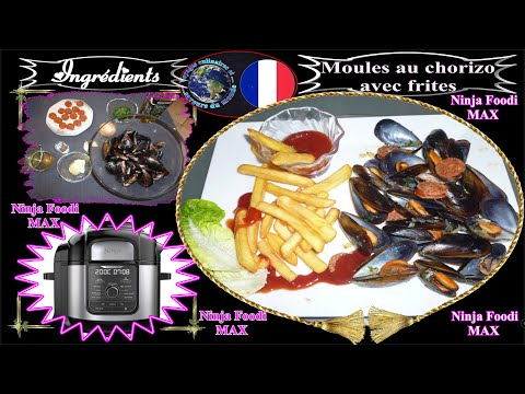 recette-pour-ninja-foodi-max-moules-au-chorizo-avec-ses-frites