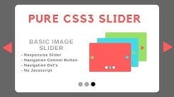 Pure CSS 3 image slider with autoplay and overlay text
