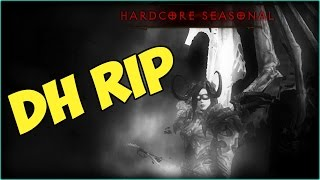 Demon Hunter RIP Diablo 3 - HC Season 6 Patch 2.4 Hardcore Death