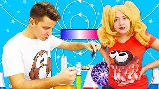Видео про опыты по физике. Магнитное притяжение для блондинки! Как легко выучить уроки физики?