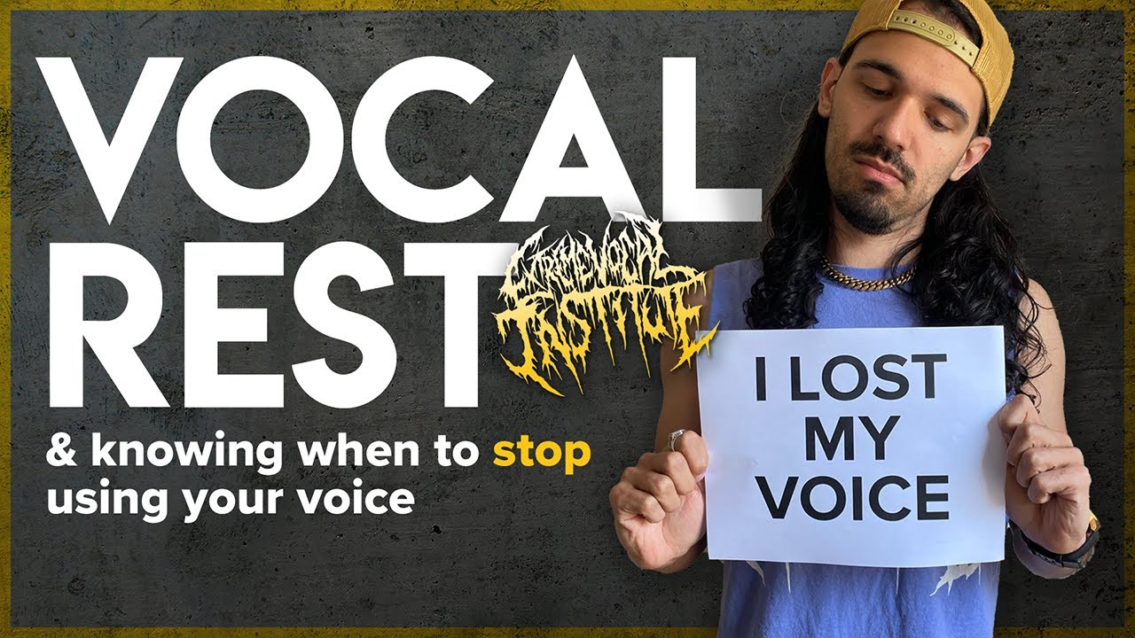 YouTube Lesson: Vocal rest and knowing when to stop  using your voice