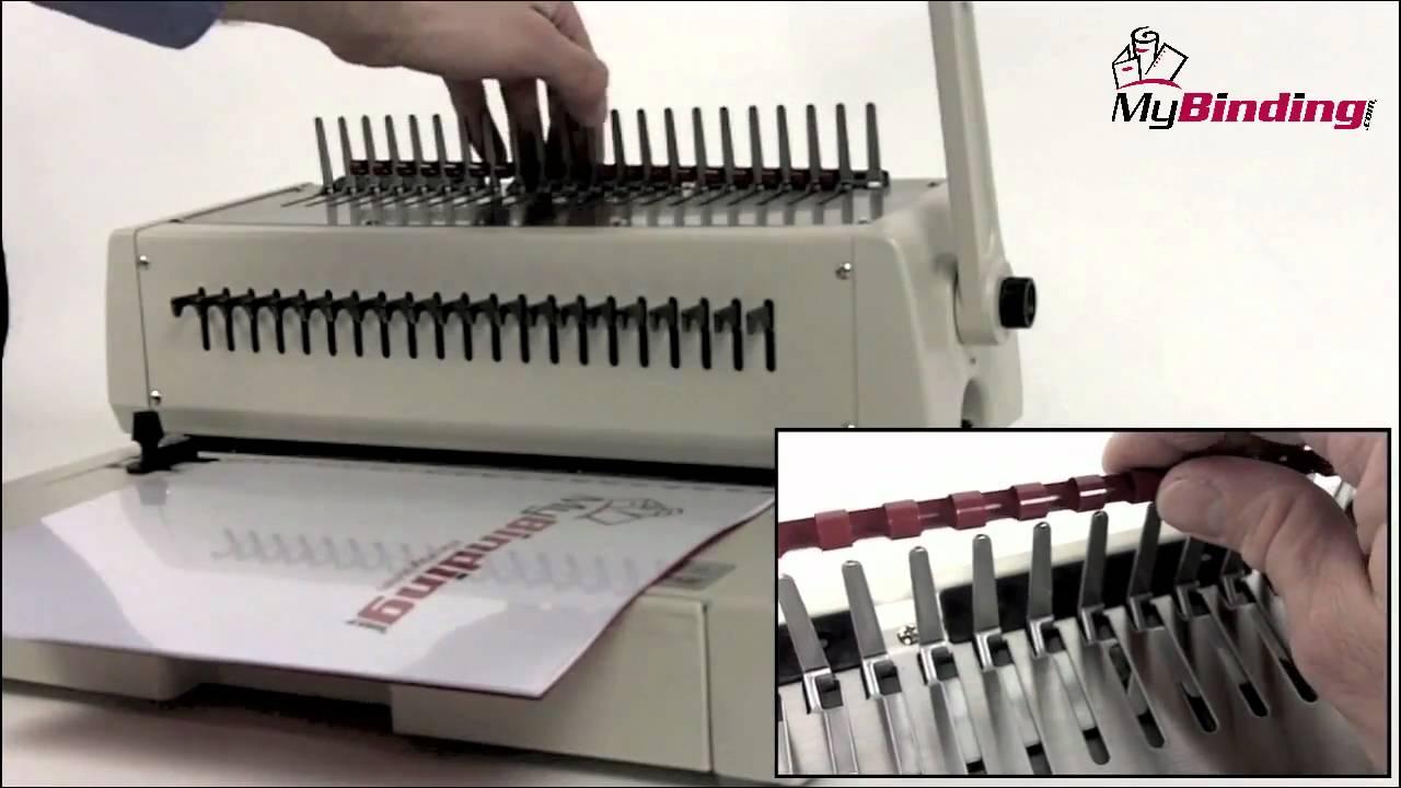 how to use plastic comb binding machine