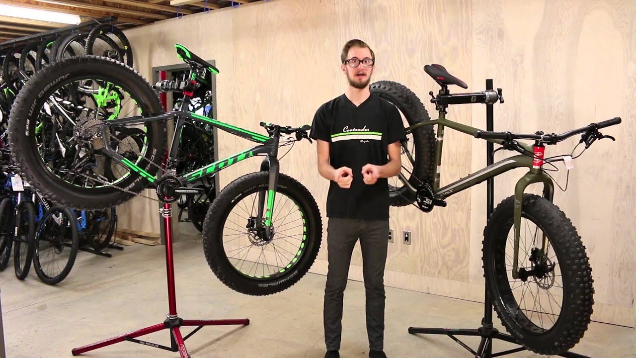 43c73a8333a Comparing the 2016 Cannondale Fat CAAD 2 & the 2016 Scott Big Jon ...