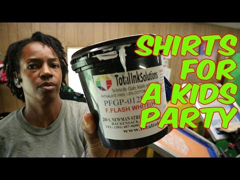 Total Ink Solutions  F.  Flash White Ink : Printing T-Shirts