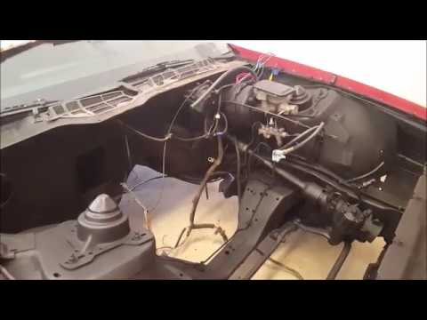 82 92 camaro engine bay wiring harness and removing the shrouding