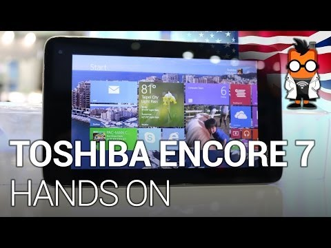Toshiba Encore 7 WT7 - First 7-inch Windows 8.1 tablet hands on [ENG]