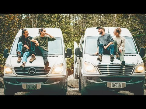 Living in a Van | Van life Meetup with Minimal Millenials + Van Tour | Eamon & Bec