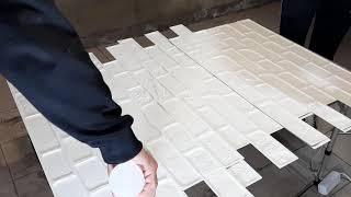 быстрый ремонт стены под белый кирпич