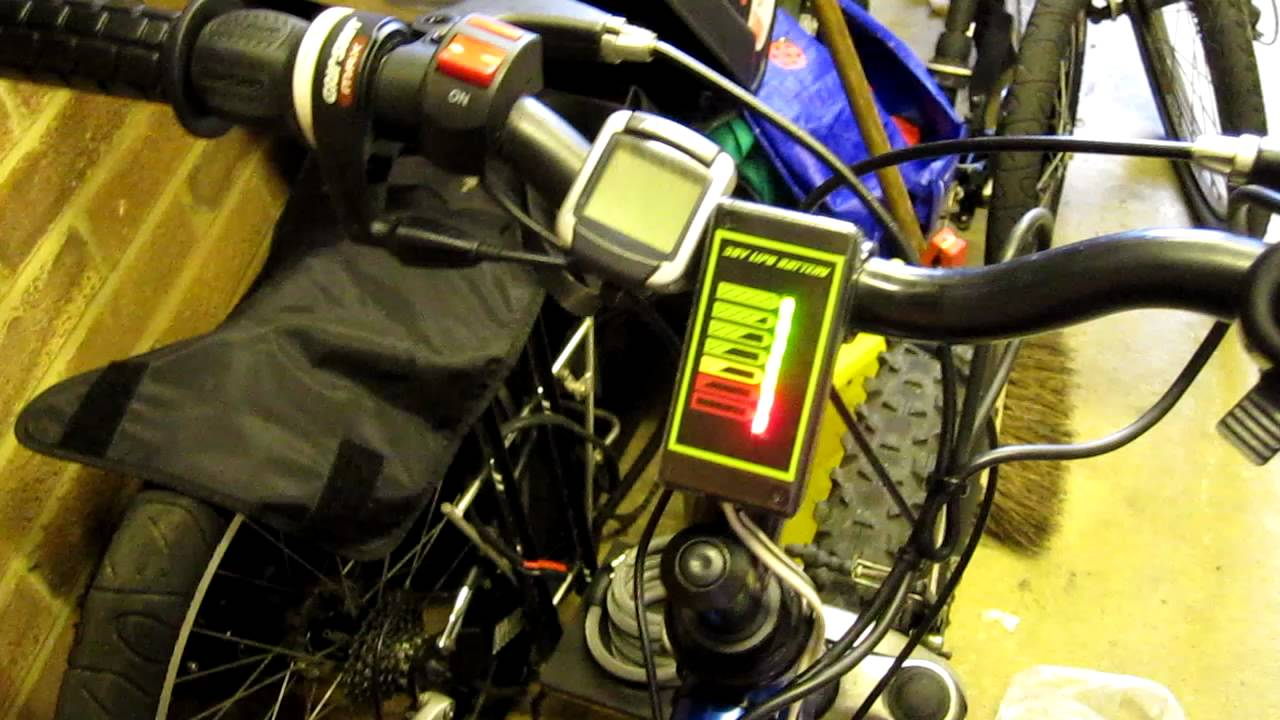Electric Bike Lipo Battery Fuel Gauge Battery Monitor