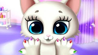 Милый белый котенок. Делаем прическу и маникюр  для кошечки