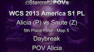 SC2 HotS - WCS 2013 AM S1 PL - Alicia vs Snute - 5th Place Finals - Map 5 - Daybreak - Alicia