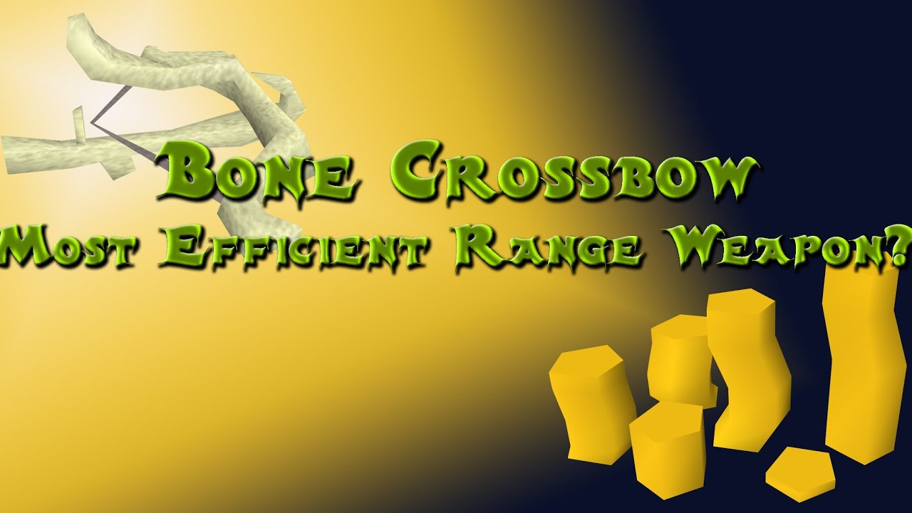Runescape 2007- Bone Crossbow Quick Tips