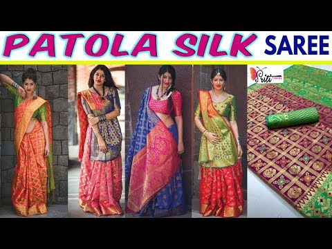 Buy Now New Launching Designer Patola Silk Saree Ll Cod Available Ll Www.prititrendz.com