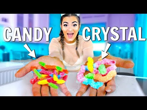Making CANDY out of CRYSTALS! Sparkly Candy!