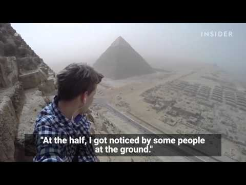 An 18-year-old illegally climbed Egypt's Great Pyramid in broad daylight