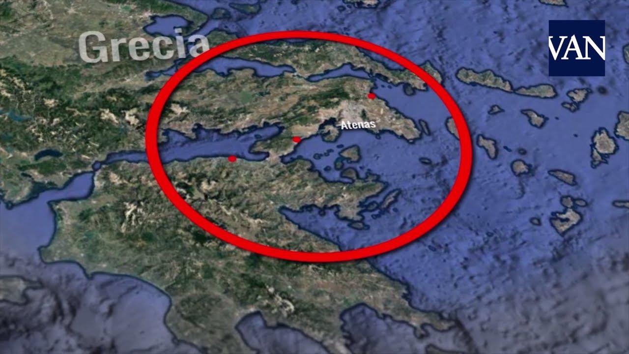 Mapa De Los Incendios De Grecia Youtube