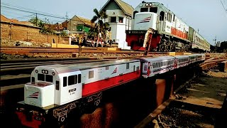 kereta api kayu || Lihat !! Sampai Ambruk..??