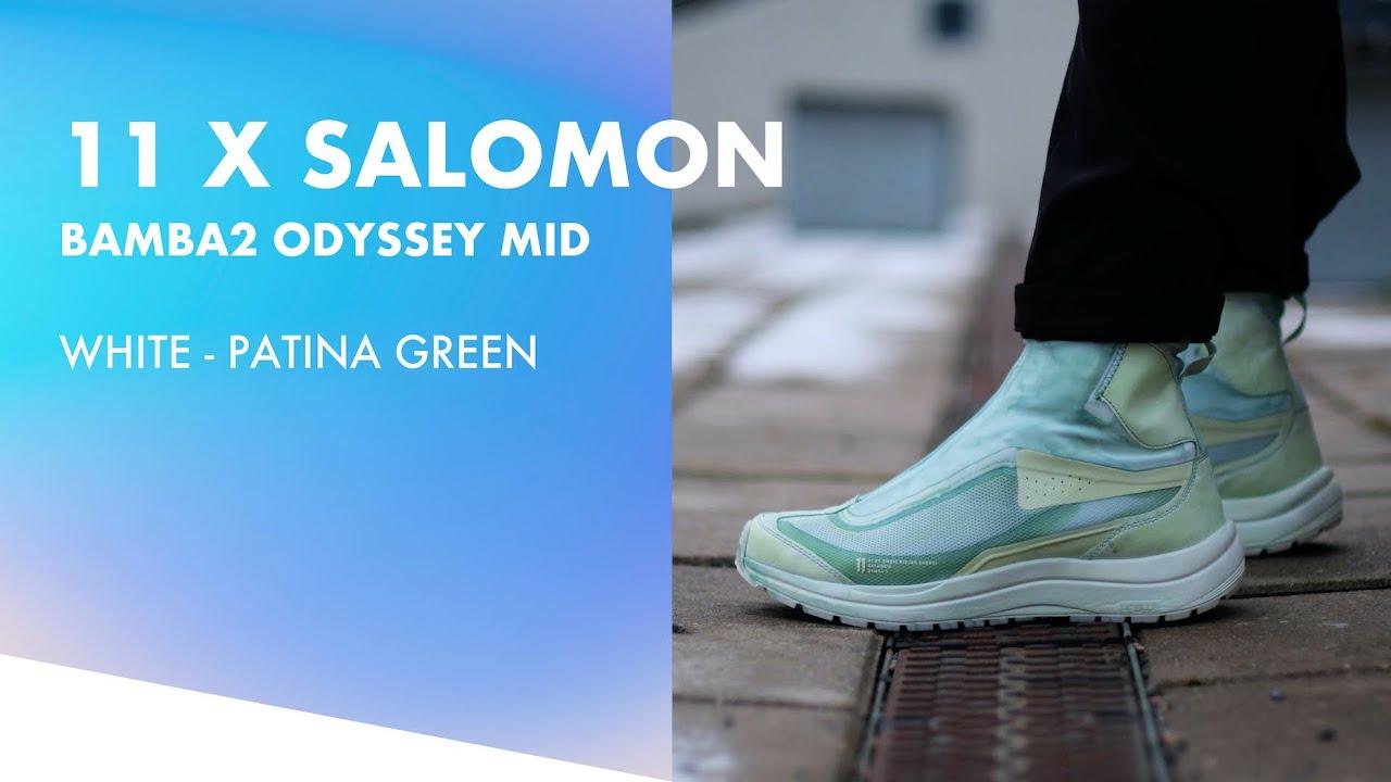 11 By #BBS (Boris Bidjan Saberi) X #Salomon #Bamba2 Odyssey Mid Patina Green