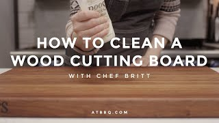 How To: Clean Your Cutting Board