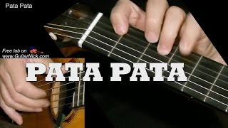 Pata Pata Easy Guitar Lesson Tab Chords Guitarnick