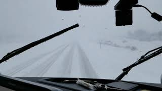 130 Mile Trip Though The Snow Storm In UT   70. Whoa.  M Slipping. For Real.. Part 1