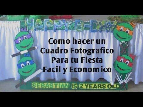 Tutorial - Cuadro Fotográfico para tu Fiesta Fácil y Económico ...