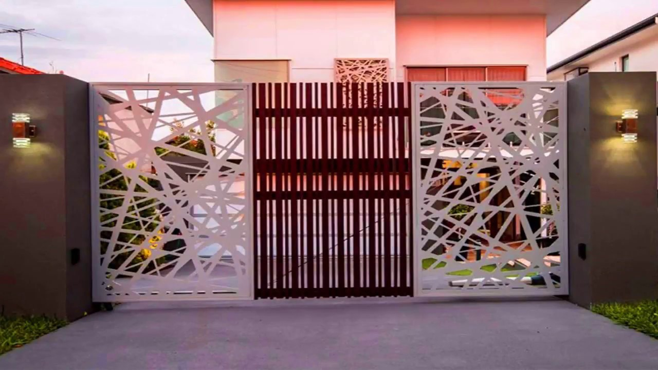 NEW 2018: 30+ Modern Main Gate Ideas | Creative Front Gate Wood Steel  SImple Sliding Images Photo