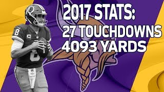 New Vikings QB Kirk Cousins 2017 Season Highlights | NFL
