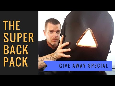Futuristic Backpack GIVE AWAY | Best Modern Backpack 2017 | Trakk Armor
