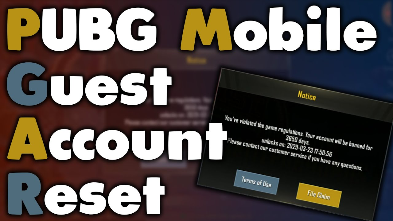 PUBG Mobile Guest Account Reset   PUBG Mobile   Account Banned   2019   HD