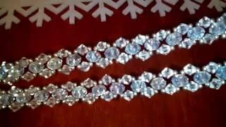 Колье из бисера и бусин. Мастер-класс для начинающих. Necklace from beads. Master class