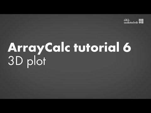 ArrayCalc tutorial 6 3D plot
