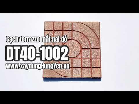 Gạch Lát Sân Vườn Terrazzo Mắt Nai Màu đỏ DT40-1002 | Gạch Lát Sân Vườn, Gạch Lát Vỉa Hè Hưng Yên