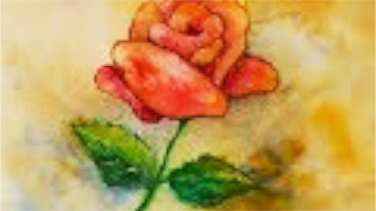 Red rose watercolor tutorial how to paint step by step for How to paint a rose step by step