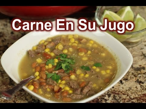 How To Make Carne En Su Jugo Recipe : Rockin Robin Cooks
