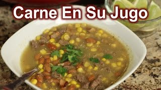 How To Make Carne En Su Jugo Recipe | Mexican Soup | Mexican Food | Rockin Robin Cooks