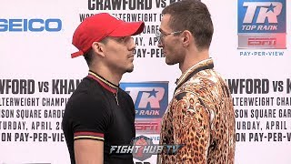 TEOFIMO LOPEZ STARES DOWN EDIS TATLI AT FINAL PRESS CONFERENCE FACE OFF 3 DAYS AHEAD OF FIGHT