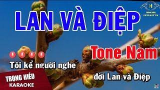 Karaoke Chuyện Tình Lan Và Điệp Tone Nam Nhạc Sống | Trọng Hiếu