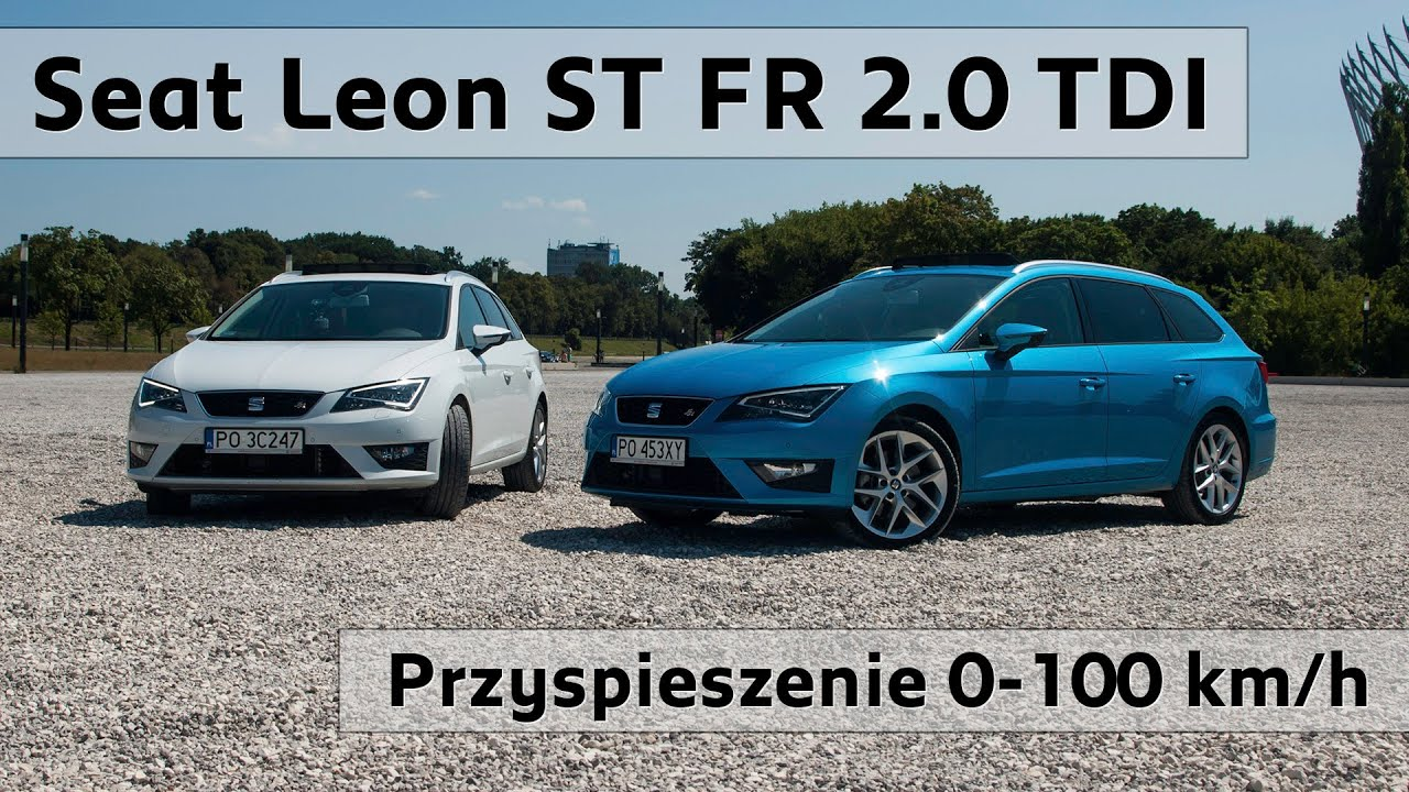 seat leon st fr 2 0 tdi 150km vs 184km test przyspieszenia acceleration 0 100 km h youtube. Black Bedroom Furniture Sets. Home Design Ideas