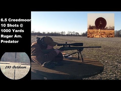 6.5 Creedmoor At 1000 Yards W/ Ruger American Predator
