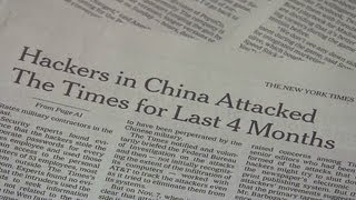The New York Times says it was targeted by Chinese hackers 2/1/2013