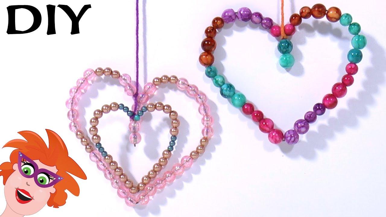 Diy Valentine S Day Hartjes Hanger Met Kralen Knutselen