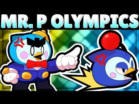 MR. P OLYMPICS!   How Does Mr. P Do In 11 Tests?!   New Brawler Mr. P Mechanics!